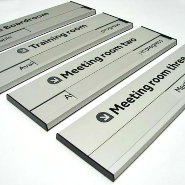sliding door sign in use vacant on aluminium buysigns