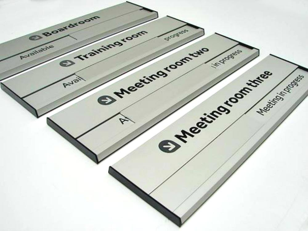 Aluminium Sliding door sign for your office