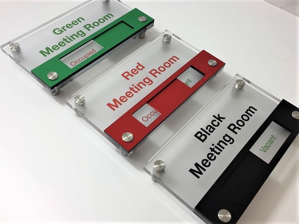 front mounted acrylic slider sign buysigns