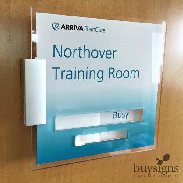 Acrylic Perspex Sliding Door Sign