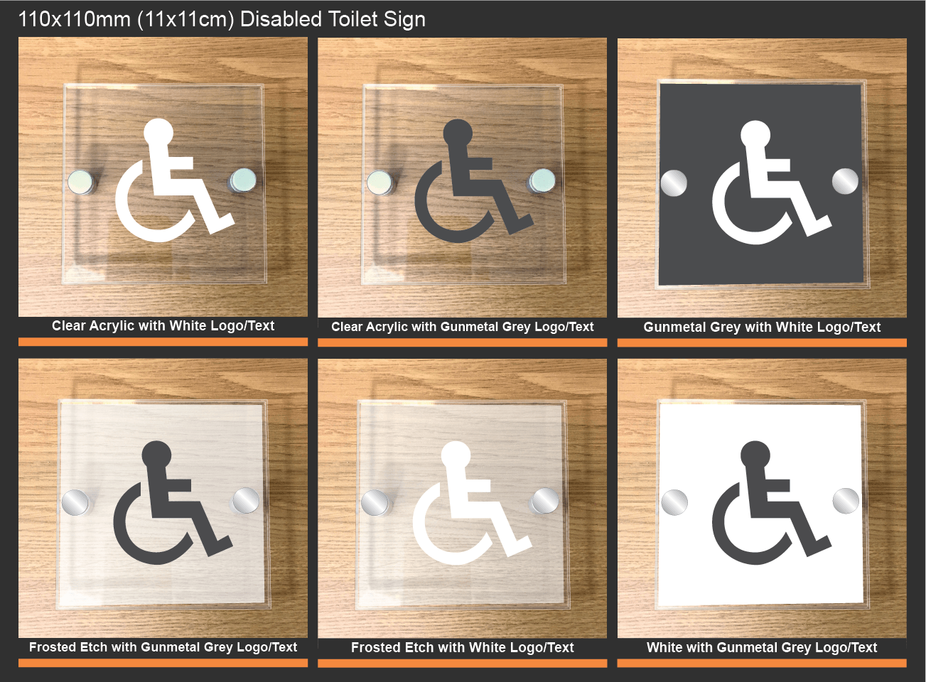 Disabled Toilet Signs - Customised Acrylic Disabled Toilet Signs