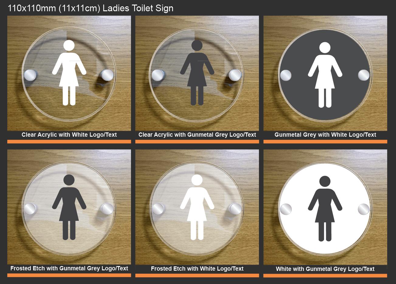 Ladies Toilet Signs - Acrylic Ladies Toilet Sign