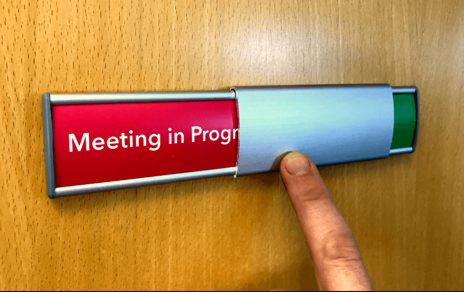 Curved Aluminium In Use/Vacant Slider Sign