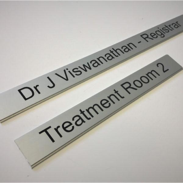 aluminium inserts for interchangeable door signs