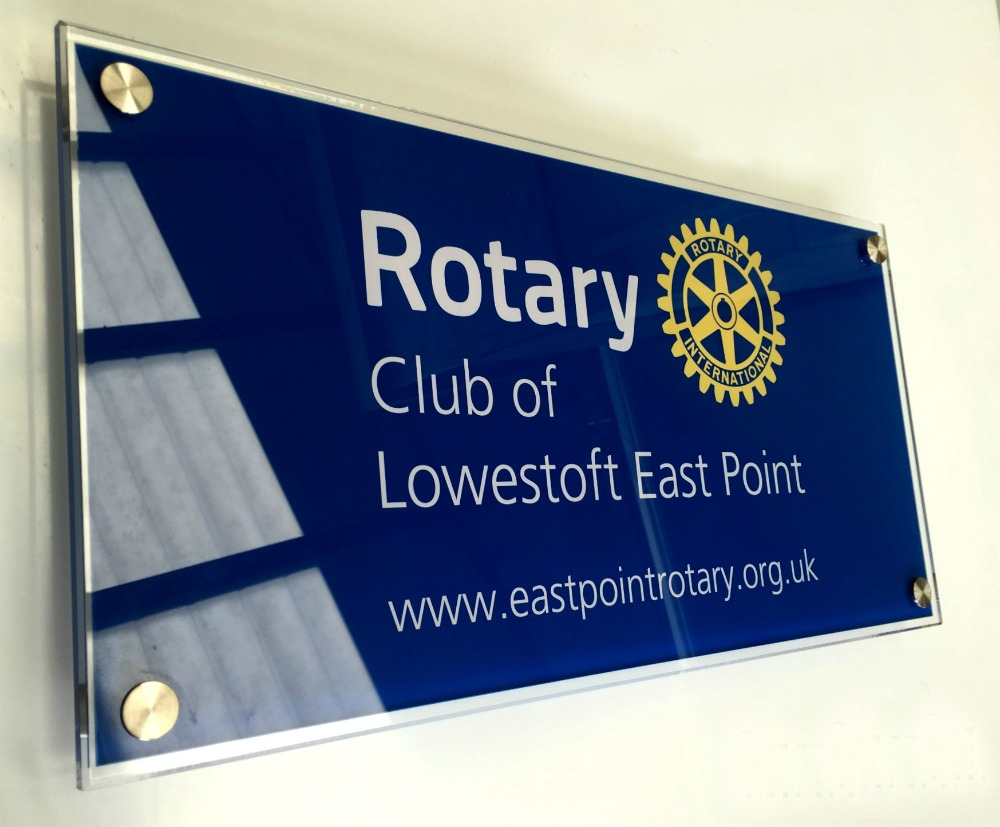 rotary club perspex sign